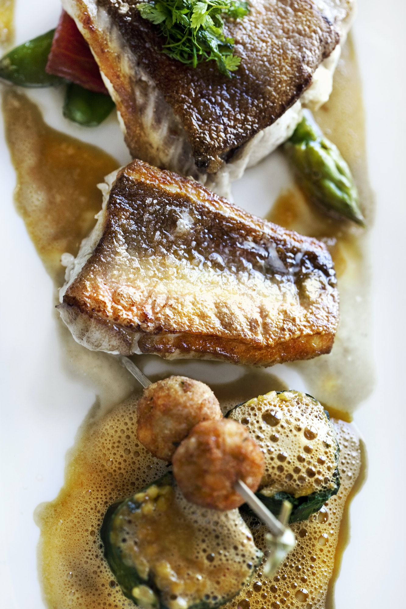 Cod and vegetable